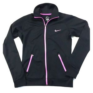 Nike Dri-fit long sleeve zip jacket women's M